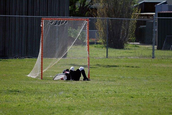 smart backstop for lacrosse goals