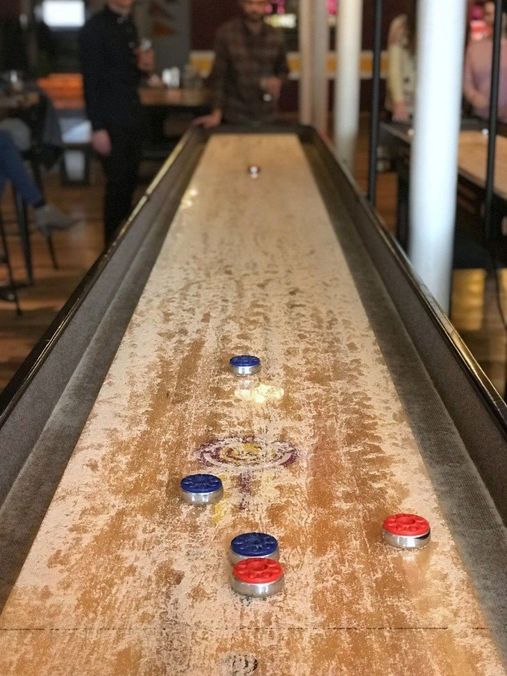 how many points to win shuffleboard