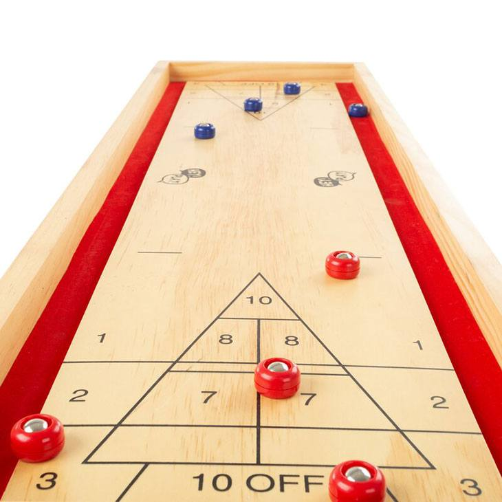 how to win at outdoor shuffleboard