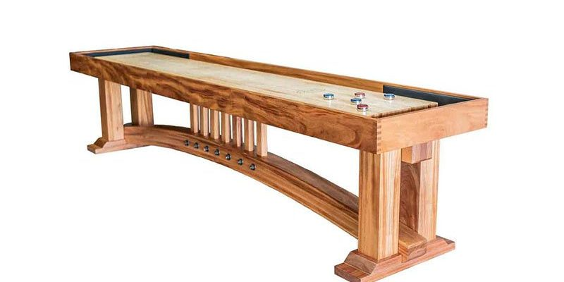 how long is a shuffleboard table